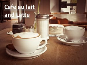 what's the difference between cafe au lait and latte
