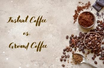 instant coffee and ground coffee